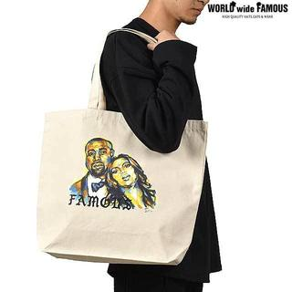 WWF KIMYE PAINTED TOTE BAG BEIGE(トートバッグ)
