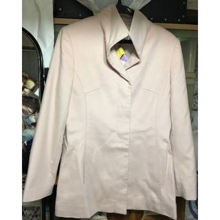 アリスバーリー(Aylesbury)のアリスバーリー ショートコート ピンク 9号 カシミア100% 美品(トレンチコート)