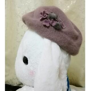 アンテプリマ(ANTEPRIMA)のアンテプリマ ベレー帽 ミンク アンゴラ スワロ(ハンチング/ベレー帽)