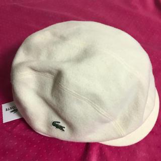 ラコステ(LACOSTE)の【未使用】ラコステ ハンチング帽 白(ハンチング/ベレー帽)