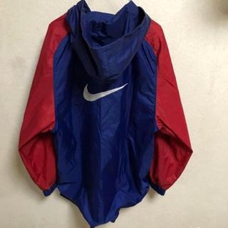 ナイキ(NIKE)の90s NIKE ナイロンジャケット パーカー 古着 ビンテージ 赤 青 ロゴ(ナイロンジャケット)