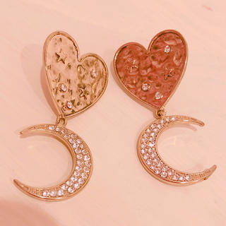 ハニーミーハニー(Honey mi Honey)のhoney mi honey ♡ heart moon pierce(ピアス)
