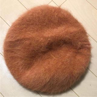 オーバーライド(override)のオーバーライド アンゴラ ベレー帽(ハンチング/ベレー帽)