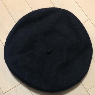 ウィゴー(WEGO)の黒 ベレー帽(ハンチング/ベレー帽)