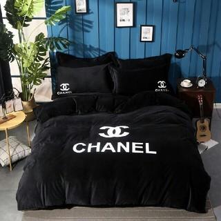 CHANEL - chanel 個性 布団カバー セミダブル4点セット 肌ふとん 寝具