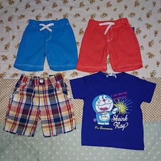 シマムラ(しまむら)の新品・夏物・半袖Tシャツ・ハーフパンツ・半ズボン・4点セット・男の子・8(パンツ)