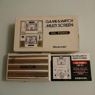 ニンテンドウ(任天堂)のGAME&WATCH オイルパニック(携帯用ゲーム本体)