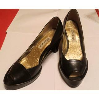 エレガンスヒミコ(elegance卑弥呼)のエレガンスヒミコ 卑弥呼 靴 パンプス 23 1/2 レザー 黒 美品    出(ハイヒール/パンプス)