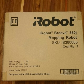 アイロボット(iRobot)の☆新品、未開封☆iRobot ブラーバ 380j(掃除機)