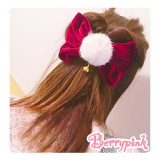 Berrypink♡ふわふわファーのリボンバレッタ♡