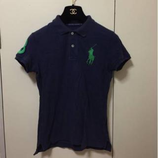 ポロラルフローレン(POLO RALPH LAUREN)の本物ラルフローレンの紺ビックポニーの半袖カットソー SKINNY Mサイズ (ポロシャツ)