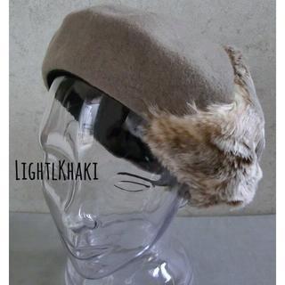 送料込 新品 ベレー帽 バスクベレー ファー ベレー トレンド ふわふわ Lk(ハンチング/ベレー帽)