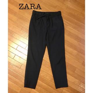 ザラ(ZARA)のZARA テーパードパンツ ネイビー(カジュアルパンツ)