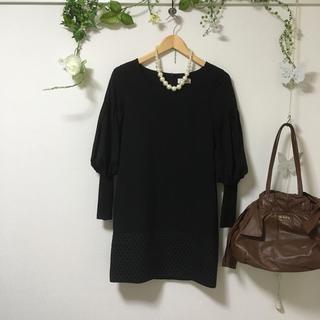アクアガール(aquagirl)の定価17000円ブラックワンピース♡(ひざ丈ワンピース)