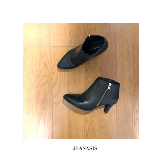 ジーナシス(JEANASIS)のjeanasis ジップブーティ 黒  Mサイズ(ブーティ)