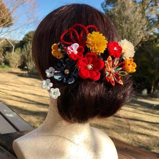 髪飾り つまみ細工 成人式 結婚式 前撮り