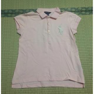 ポロラルフローレン(POLO RALPH LAUREN)のB3本物ラルフローレンのピンク系ビックポニーのポロシャツ M相当 (ポロシャツ)