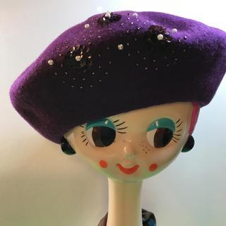 ベレー帽……新品未使用(ハンチング/ベレー帽)