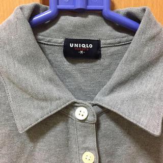 ユニクロ(UNIQLO)のUNIQLO ポロシャツ M グレー(ポロシャツ)