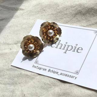 再∞販 vintage gold flower pierce