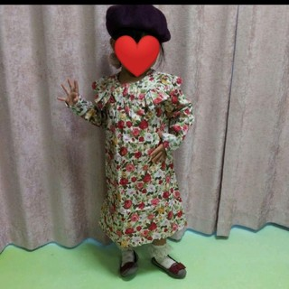 ラルフローレン(Ralph Lauren)の美品 花柄お上品ワンピース110(ワンピース)