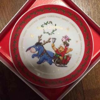 ディズニー(Disney)の新品 未使用 クリスマス プレート プーさん(プレート/茶碗)