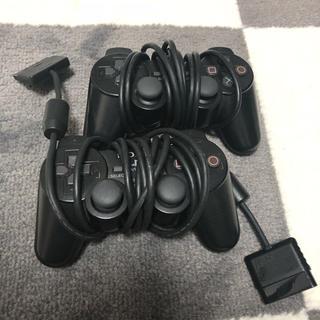 プレイステーション(PlayStation)のプレステ コントローラー2つ(家庭用ゲーム本体)
