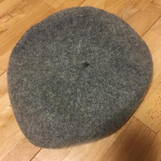 グレー ベレー帽 試着のみ(ハンチング/ベレー帽)