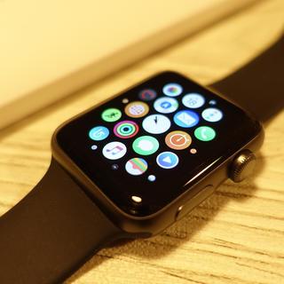 アップルウォッチ(Apple Watch)のアップルウオッチ2 Apple watch 42mm 新品ホワイトバンド付き(腕時計(デジタル))