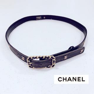 CHANEL - シャネル ◆ ココマーク ロゴ ブラック ベルト ヴィンテージ