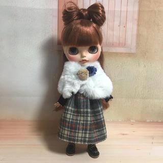 グレーチェックセット(人形)