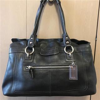 コーチ(COACH)の美品 COACH 約6.5万円 多収納大型本革バッグ(ハンドバッグ)