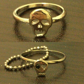 美品 ドクロリングセット(リング(指輪))