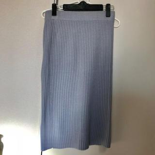 ジーユー(GU)のニットスカート(ひざ丈スカート)