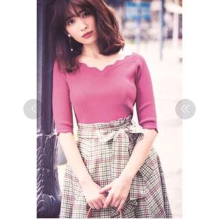 リランドチュール(Rirandture)の美品 リランドチュール チェックオータムアシメスカート(ひざ丈スカート)