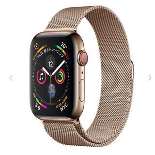 アップルウォッチ(Apple Watch)のApple Watch Series 4(GPS+Cellular) ゴールド(腕時計(デジタル))