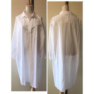 新品 シャツ ロングシャツ シャツワンピース トップス ホワイトシャツ(シャツ/ブラウス(長袖/七分))