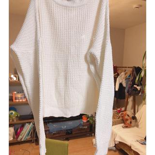 シンプルホワイトニット♡(ニット/セーター)