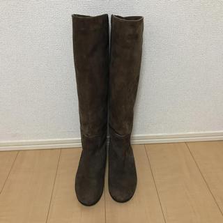 アダムエロぺ(Adam et Rope')のアダムエロペ スエードブーツ ATTIMO ブラウン 24.5cm(ブーツ)