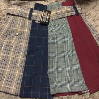 レディアゼル(REDYAZEL)のREDYAZEL  チェック配色ミニスカート(ミニスカート)
