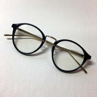 メタコン 伊達眼鏡 ボストン型(サングラス/メガネ)