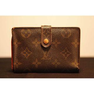 ルイヴィトン(LOUIS VUITTON)の良品 本物 ルイ ヴィトン モノグラム がま口 二つ折り財布 正規品(財布)