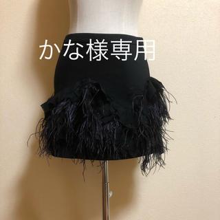 ザラ(ZARA)のフェザースカート&フリンジスカート(ミニスカート)