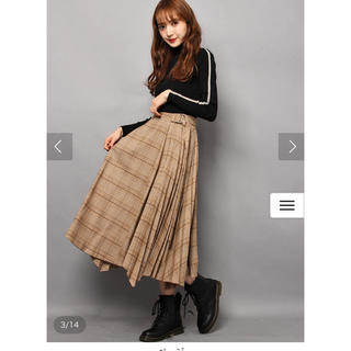 SNIDEL ウールプリーツスカート
