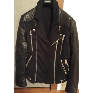 バルマン(BALMAIN)の新品同様☆BALMAIN☆ブラック☆ライダースジャケット(ライダースジャケット)