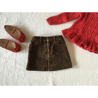 ポロラルフローレン(POLO RALPH LAUREN)の美品☆ラルフローレン☆コーデュロイスカート 80 90(スカート)