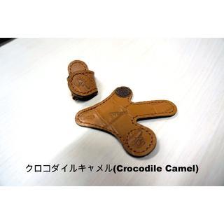 【限定】 パペットキャップ《色:クロコダイル柄キャメル》(サックス)