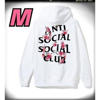 アンチ(ANTI)の【新品・送料無料】アンチソーシャルソーシャルクラブ 桜 サクラ 白 パーカー M(パーカー)