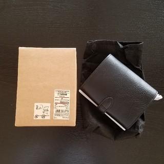 ムジルシリョウヒン(MUJI (無印良品))の新品 無印良品 二つ折り財布 ヌメ ジャバラ ブラック 黒(折り財布)