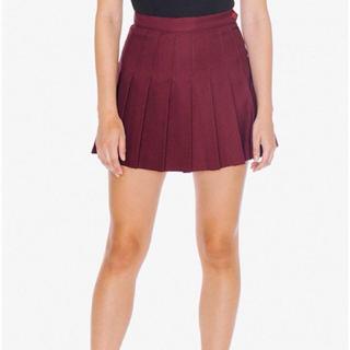 アメリカンアパレル(American Apparel)のAmerican Apparel テニススカート ボルドー(ミニスカート)
